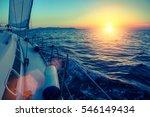 Sailing Yacht Glides At...