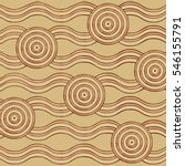 abstract aboriginal line... | Shutterstock .eps vector #546155791