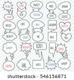 set of speech bubbles with... | Shutterstock .eps vector #546156871