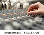 hand pushing sound equalizer... | Shutterstock . vector #546167725