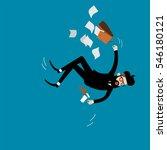 falling businessman vector.   Shutterstock .eps vector #546180121