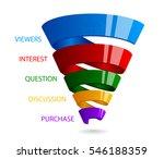 spiral sales funnel for... | Shutterstock .eps vector #546188359