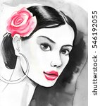 woman sketch | Shutterstock . vector #546192055