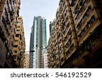 hong kong high density housing... | Shutterstock . vector #546192529