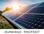 solar panel  photovoltaic ... | Shutterstock . vector #546193327