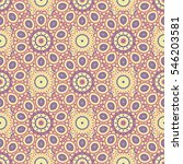 ethnic floral seamless pattern... | Shutterstock .eps vector #546203581