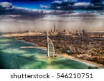 Aerial View Of Dubai Coastline...