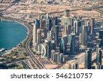 Stock photo aerial view of doha skyline qatar 546210757