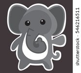 cute elephant cartoon. ... | Shutterstock .eps vector #546216511