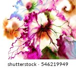 beautiful bright abstract... | Shutterstock . vector #546219949