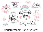 happy valentines day. set of... | Shutterstock .eps vector #546228991