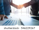 business partnership meeting... | Shutterstock . vector #546229267