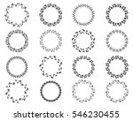 black round floral borders and... | Shutterstock .eps vector #546230455