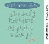 handwritten calligraphy ink... | Shutterstock .eps vector #546231841