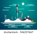 vector flat illustration with... | Shutterstock .eps vector #546237667