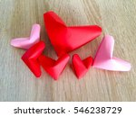 red and pink paper hearts... | Shutterstock . vector #546238729