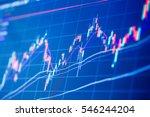stock exchange board background | Shutterstock . vector #546244204