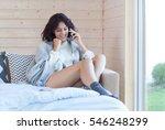 young beautiful brunette...   Shutterstock . vector #546248299
