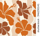seamless pattern with floral...   Shutterstock .eps vector #546250141