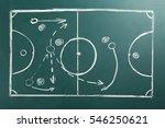 scheme of football game on... | Shutterstock . vector #546250621