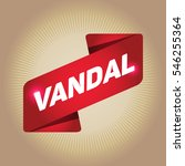vandal arrow tag sign. | Shutterstock .eps vector #546255364