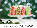 christmas cake decorated with... | Shutterstock . vector #546260845