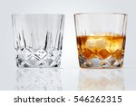 two perfect glasses of whiskey... | Shutterstock . vector #546262315
