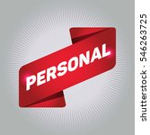 personal arrow tag sign. | Shutterstock .eps vector #546263725