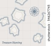 treasure paper map with islands.... | Shutterstock .eps vector #546267745