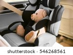 safety car seat for baby  with... | Shutterstock . vector #546268561