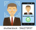 biometrical identification.... | Shutterstock . vector #546273937