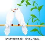 two doves  vector illustration