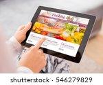 cooking blog on tablet   Shutterstock . vector #546279829
