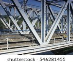 modern metal railway bridge  ... | Shutterstock . vector #546281455