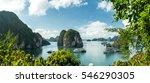 view over famous ha long bay.... | Shutterstock . vector #546290305