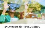 happy friends are watching... | Shutterstock . vector #546295897