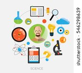 avatar of men with with sciense ... | Shutterstock .eps vector #546298639