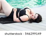 young beautiful busty curvy ... | Shutterstock . vector #546299149