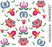 hungarian motifs pattern. | Shutterstock .eps vector #546304837