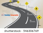 design template  road map... | Shutterstock .eps vector #546306769