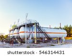 chemical tank containers in... | Shutterstock . vector #546314431
