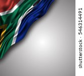 south african waving silky flag ... | Shutterstock .eps vector #546314491