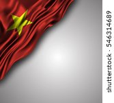 vietnamese waving silky flag... | Shutterstock .eps vector #546314689