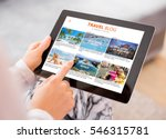 travel blog on tablet computer | Shutterstock . vector #546315781
