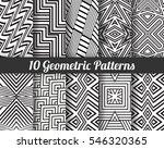 set of 10 geometric patterns.... | Shutterstock .eps vector #546320365
