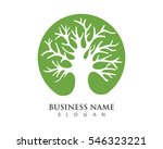 tree leaf vector logo design ... | Shutterstock .eps vector #546323221