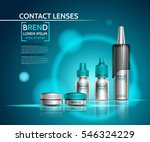 realistic packaging for contact ... | Shutterstock .eps vector #546324229