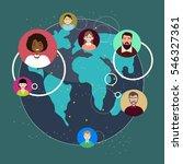 team working concept.flat... | Shutterstock .eps vector #546327361