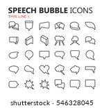 simple modern set of speech... | Shutterstock .eps vector #546328045