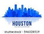 houston texas silhouette vector ... | Shutterstock .eps vector #546328519